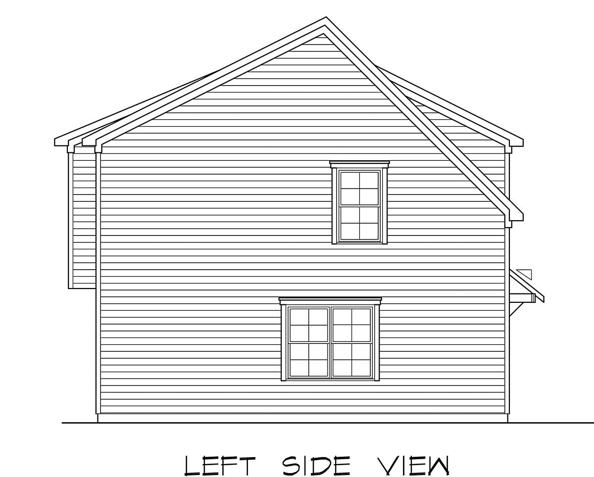 Country, Craftsman, Traditional Garage-Living Plan 60079 with 2 Beds, 3 Baths, 3 Car Garage Picture 2