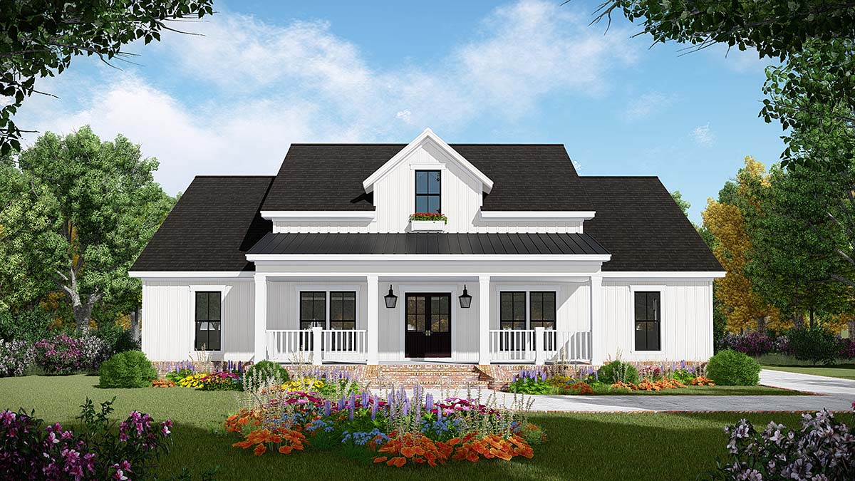Country, Farmhouse, Ranch House Plan 60106 with 3 Beds, 2 Baths, 2 Car Garage Elevation