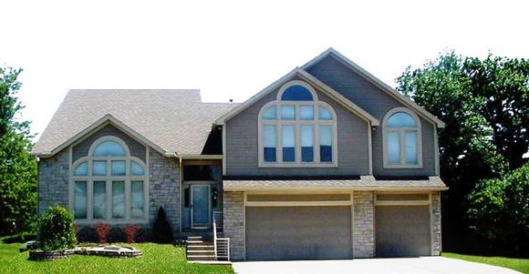 House Plan 60638 with 4 Beds, 3 Baths, 3 Car Garage Elevation