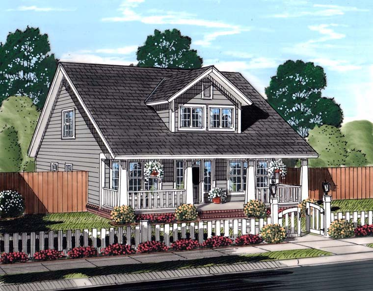 Cape Cod, Country, Southern, Traditional House Plan 61443 with 3 Beds, 3 Baths Elevation