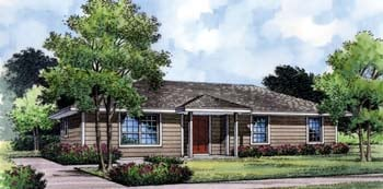 Country, Farmhouse, Florida, Narrow Lot, Traditional House Plan 63175 with 4 Beds, 2 Baths Elevation