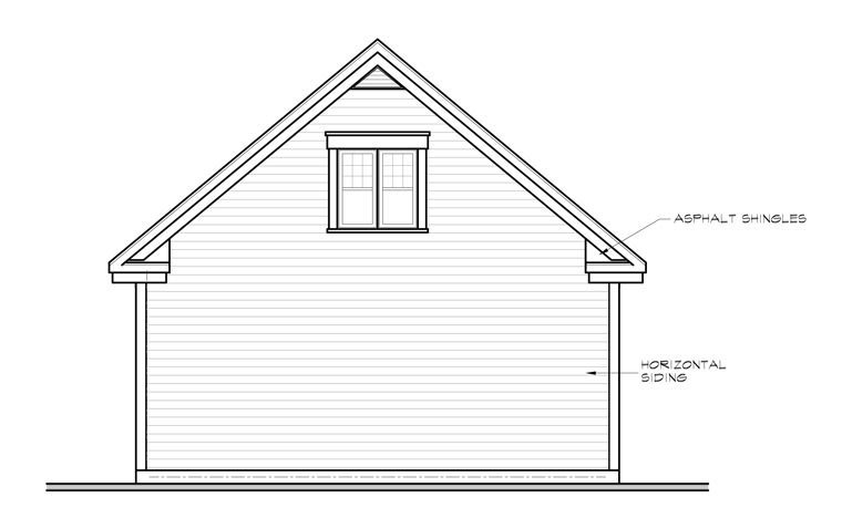 2 Car Garage Plan 64870 Rear Elevation