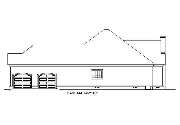 Florida, Mediterranean House Plan 65602 with 3 Beds, 2 Baths, 2 Car Garage Picture 2
