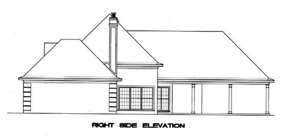 Mediterranean, One-Story House Plan 65674 with 3 Beds, 2 Baths, 2 Car Garage Picture 2