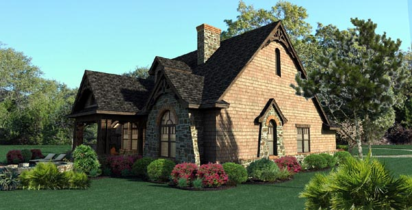 Cottage, Craftsman, Tuscan House Plan 65866 with 3 Beds, 3 Baths, 2 Car Garage Picture 3
