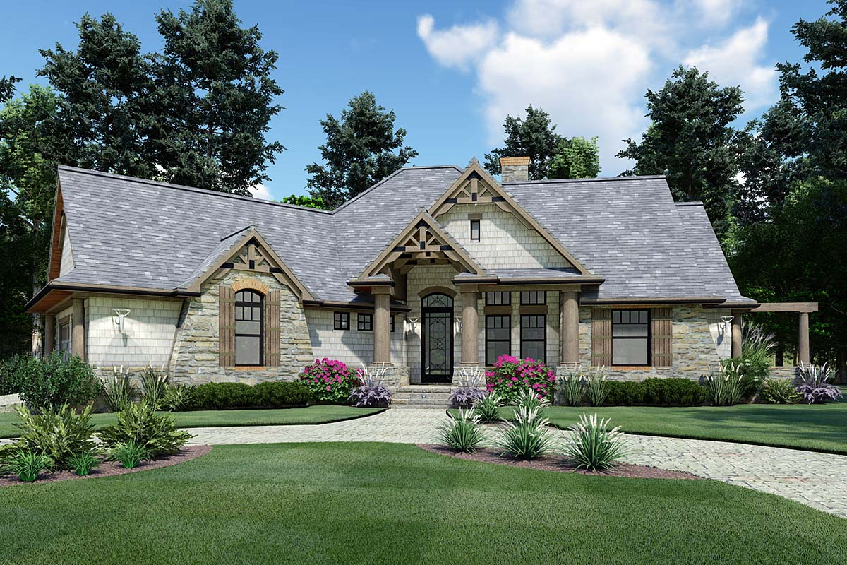 View 999 Sq. Toes 2 Bed room 2 Lavatory 1 Storage Craftsman Bungalow 39157  PNG