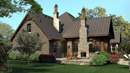 Cottage, Craftsman, Tuscan House Plan 65869 with 3 Beds, 3 Baths, 3 Car Garage Picture 4