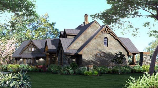 Craftsman, Tuscan House Plan 65871 with 3 Beds, 3 Baths, 2 Car Garage Picture 17