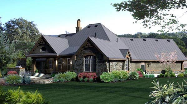 Craftsman, Tuscan House Plan 65871 with 3 Beds, 3 Baths, 2 Car Garage Picture 18