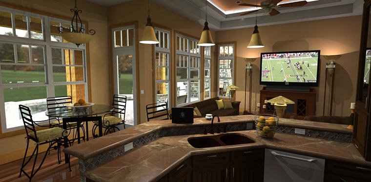 Craftsman, Tuscan House Plan 65871 with 3 Beds, 3 Baths, 2 Car Garage Picture 8
