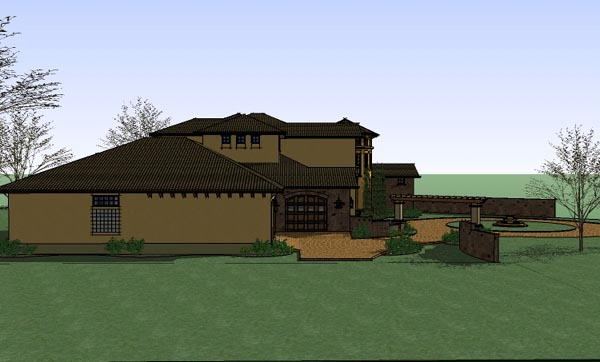 Italian, Mediterranean, Traditional House Plan 65882 with 5 Beds, 6 Baths, 3 Car Garage Picture 1