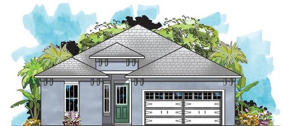 Traditional House Plan 66916 with 3 Beds, 2 Baths, 2 Car Garage Elevation