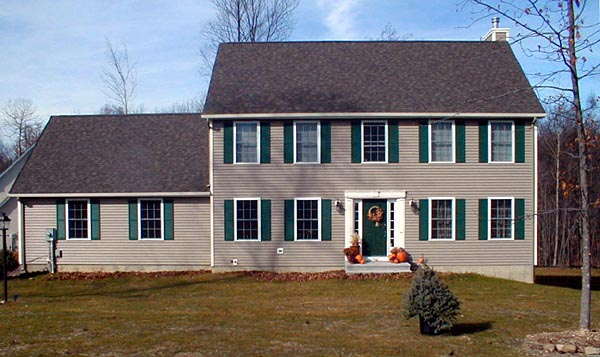 Colonial House Plan 67251 with 3 Beds, 3 Baths, 2 Car Garage Picture 1
