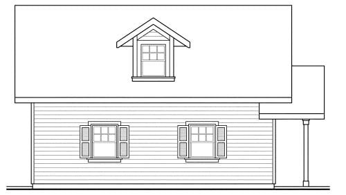 Traditional 1 Car Garage Apartment Plan 69765 Picture 1