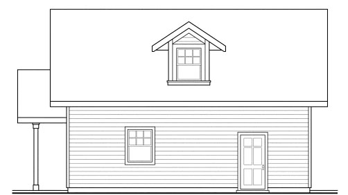 Traditional 1 Car Garage Apartment Plan 69765 Picture 2