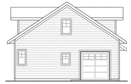 Traditional 1 Car Garage Apartment Plan 69765 Rear Elevation