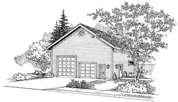 Traditional 5 Car Garage Plan 69767, RV Storage Elevation