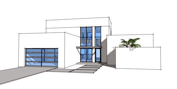 Contemporary, Modern House Plan 70801 with 3 Beds, 3 Baths, 2 Car Garage Elevation