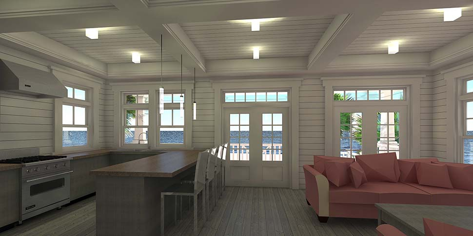 Coastal, Contemporary, Southern House Plan 70852 with 3 Beds, 2 Baths, 2 Car Garage Picture 3