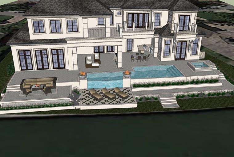 Florida, Mediterranean House Plan 71526 with 4 Beds, 7 Baths, 4 Car Garage Picture 2