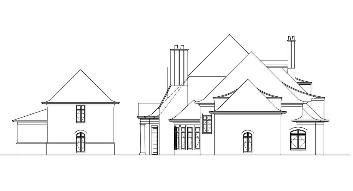 European, Greek Revival House Plan 72126 with 7 Beds, 9 Baths, 5 Car Garage Picture 2