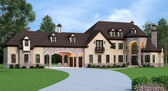 European, French Country House Plan 72226 with 5 Beds, 5 Baths, 5 Car Garage Elevation