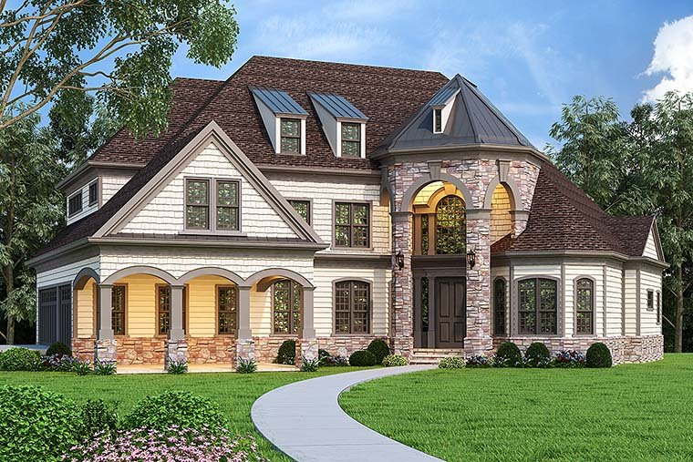House Plan 72249 French Country Style With 3125 Sq Ft 4 Bed 4 Bath