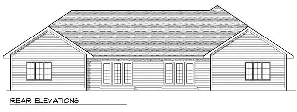 Traditional Multi-Family Plan 73476 with 6 Beds, 4 Baths, 4 Car Garage Rear Elevation