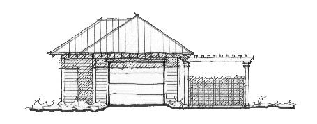 Historic 2 Car Garage Plan 73754 Elevation