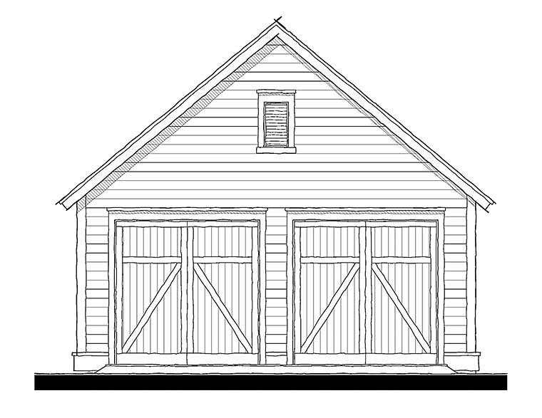 Cottage, Traditional 2 Car Garage Plan 73951 Elevation