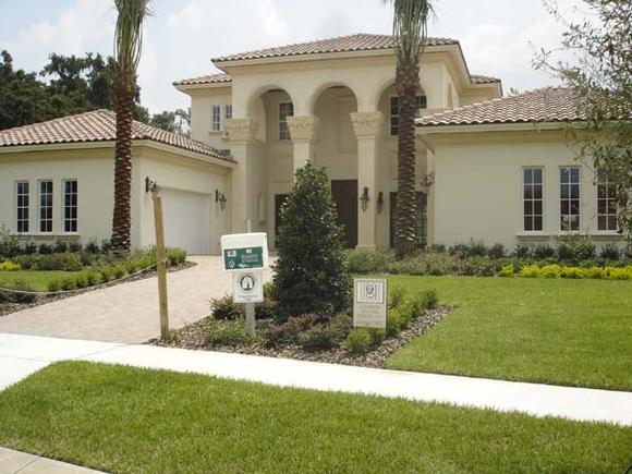 Mediterranean, Southwest House Plan 74243 with 5 Beds, 6 Baths, 4 Car Garage Elevation