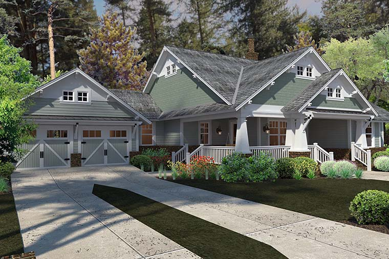 Bungalow, Cottage, Craftsman House Plan 75137 with 3 Beds, 2 Baths, 2 Car Garage Picture 4