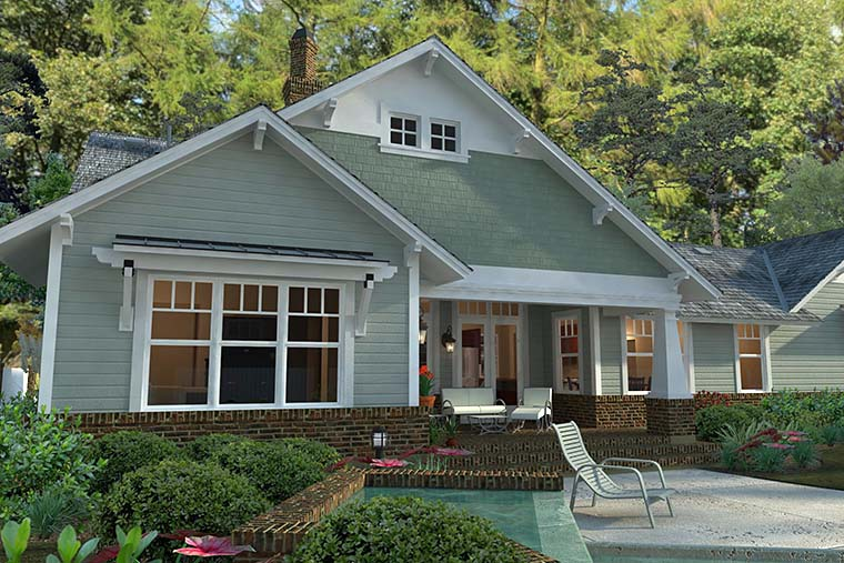 Bungalow, Cottage, Craftsman House Plan 75137 with 3 Beds, 2 Baths, 2 Car Garage Picture 6