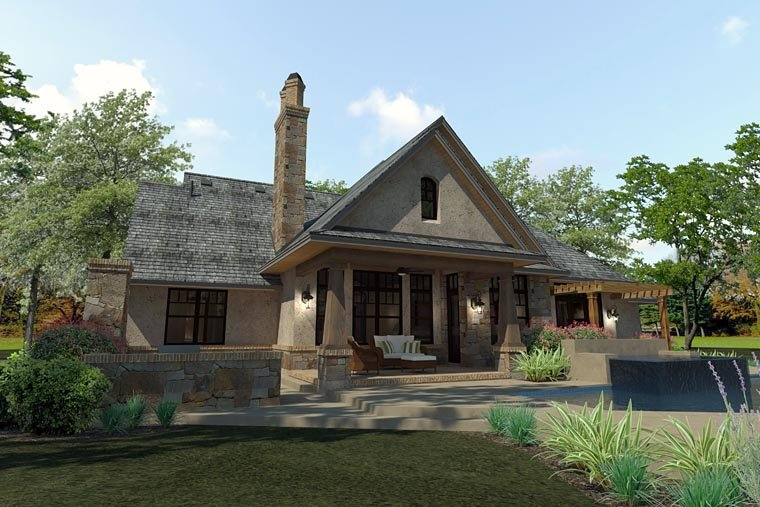 Craftsman, Traditional, Tuscan House Plan 75144 with 3 Beds, 3 Baths, 2 Car Garage Picture 3