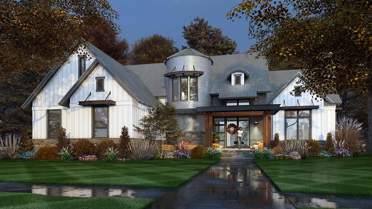 House Plan 75165 - Farmhouse Style with 2425 Sq Ft, 3 Bed, 2 Bath, 1 Half  Bath