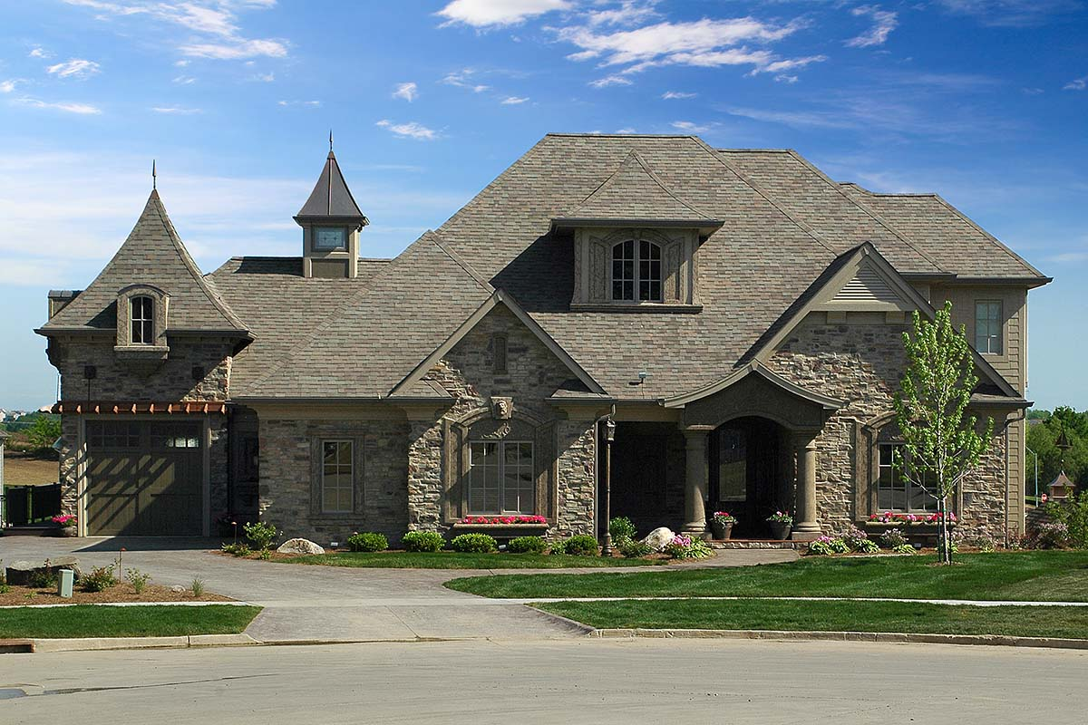 European, French Country, Tuscan House Plan 75492 with 4 Beds, 4 Baths, 3 Car Garage Elevation