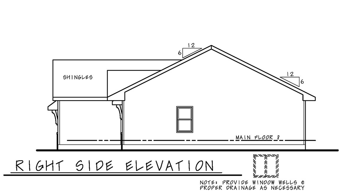Craftsman, Narrow Lot, Traditional House Plan 75715 with 3 Beds, 2 Baths, 2 Car Garage Picture 1