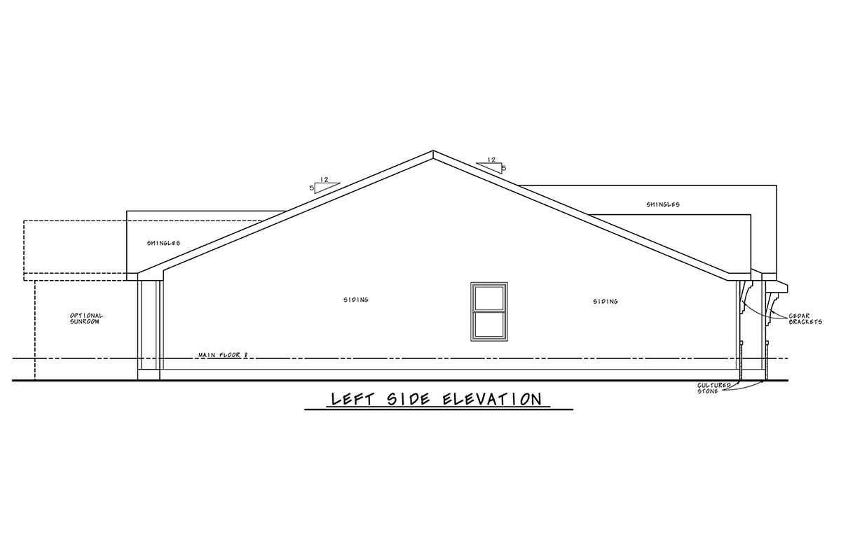 Craftsman House Plan 75751 with 2 Beds, 2 Baths, 2 Car Garage Picture 2