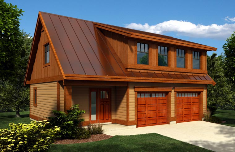 2 Car Garage Plan 76024 Elevation