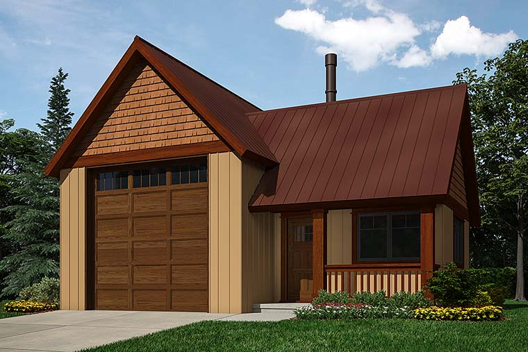 Traditional 1 Car Garage Plan 76062, RV Storage Elevation