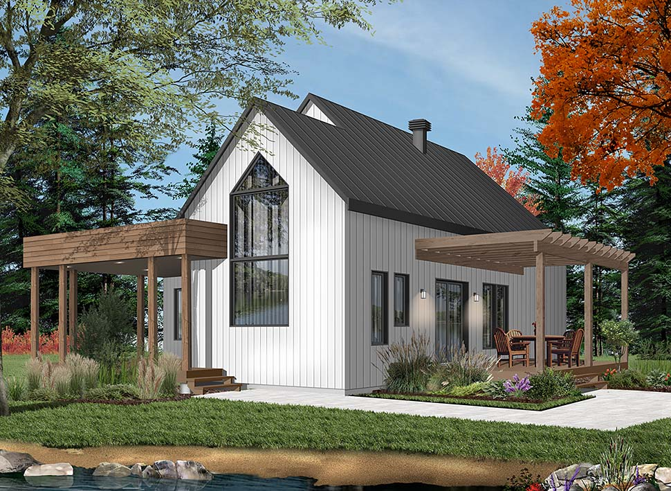 Contemporary, Cottage, Modern House Plan 76527 with 2 Beds, 1 Baths Picture 4