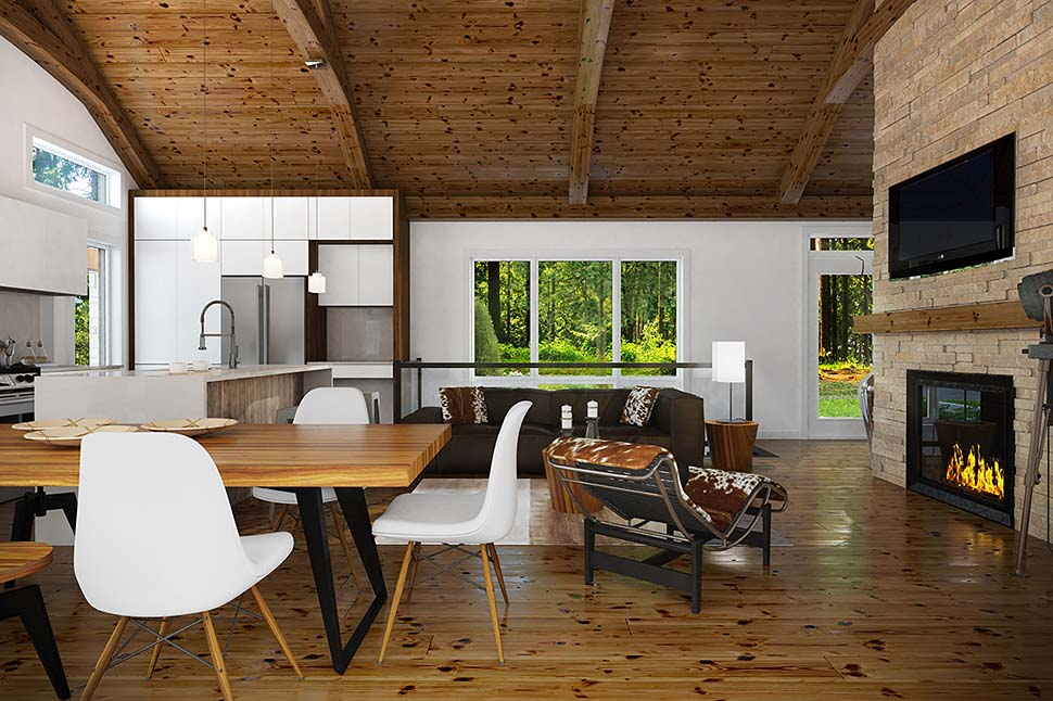 Coastal, Cottage, Farmhouse House Plan 76566 with 3 Beds, 3 Baths Picture 3