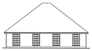 Country Multi-Family Plan 79110 with 6 Beds, 4 Baths, 2 Car Garage Rear Elevation