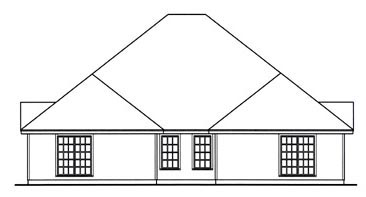 Country Multi-Family Plan 79240 with 6 Beds, 4 Baths, 4 Car Garage Rear Elevation