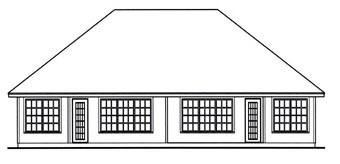 Country Multi-Family Plan 79256 with 4 Beds, 4 Baths, 4 Car Garage Rear Elevation