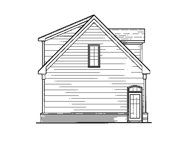 Cottage 3 Car Garage Apartment Plan 80250 with 1 Beds, 1 Baths Picture 2