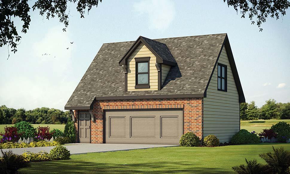 Traditional 2 Car Garage Apartment Plan 80425 Elevation
