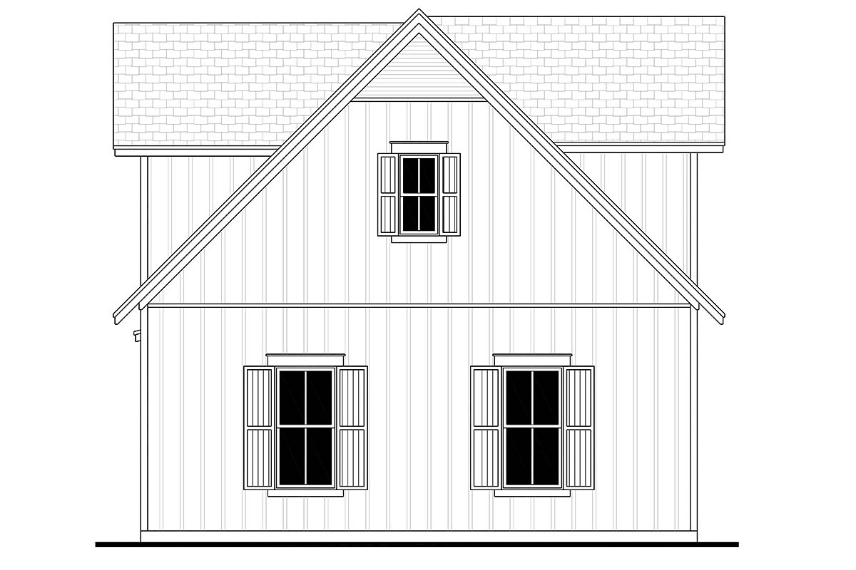 Country, Craftsman, Farmhouse 3 Car Garage Apartment Plan 80809 with 1 Beds, 1 Baths Picture 1