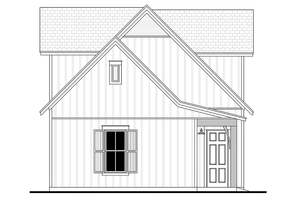 Country, Craftsman, Farmhouse 3 Car Garage Apartment Plan 80809 with 1 Beds, 1 Baths Picture 2