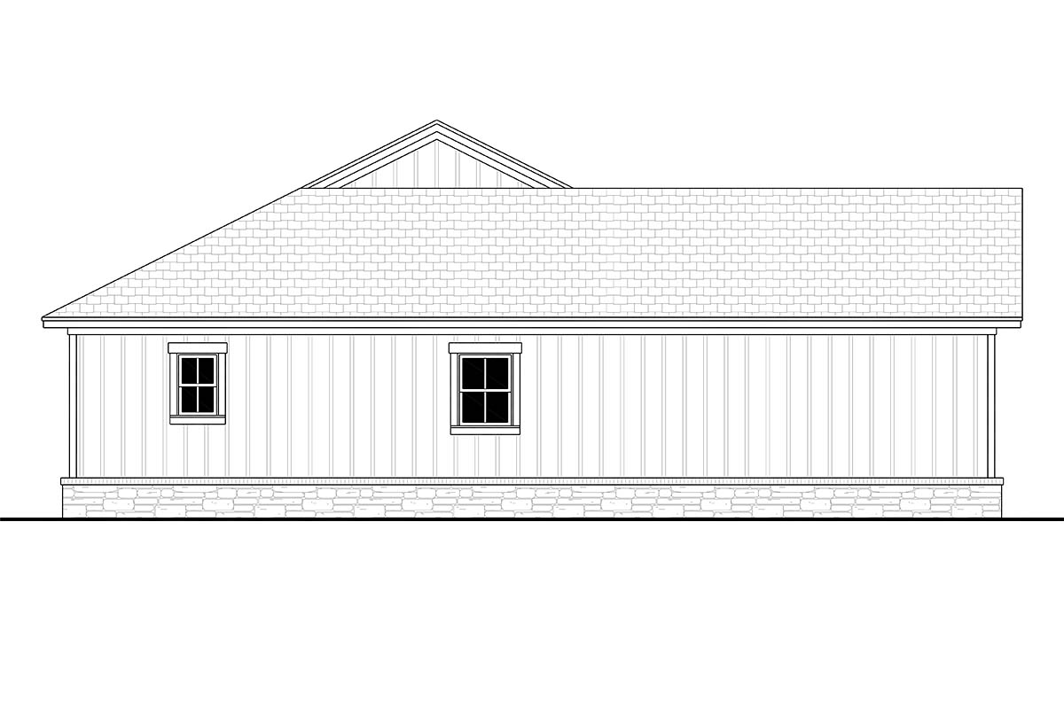 Bungalow, Country, Craftsman, Farmhouse, Ranch House Plan 80818 with 3 Beds, 3 Baths, 2 Car Garage Picture 2